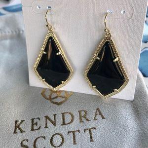Kendra Scott Alex black gold color earring